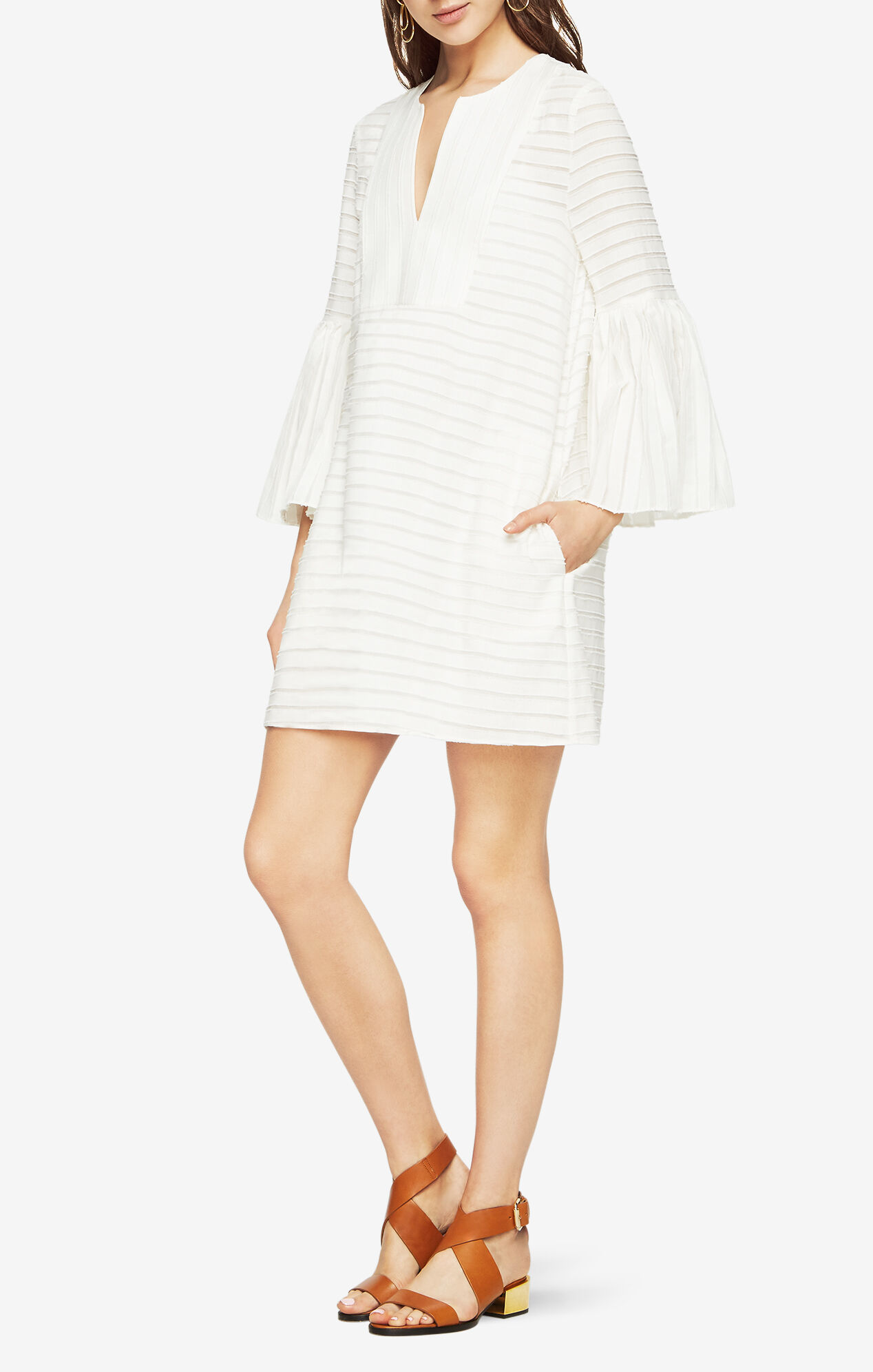 Adina Bell-Sleeve Dress