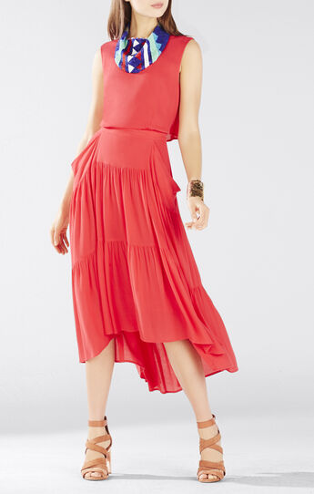Aureana Draped Peasant Skirt Dress