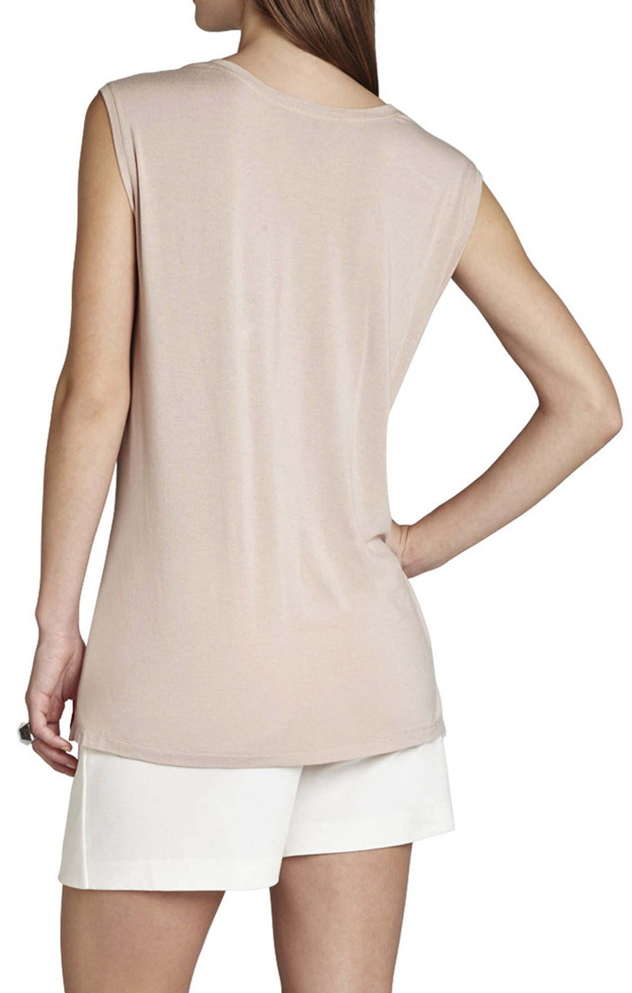 Lara V-Neck Top With Twist-Front Hem