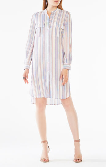 Maddox Striped Shirt Dress