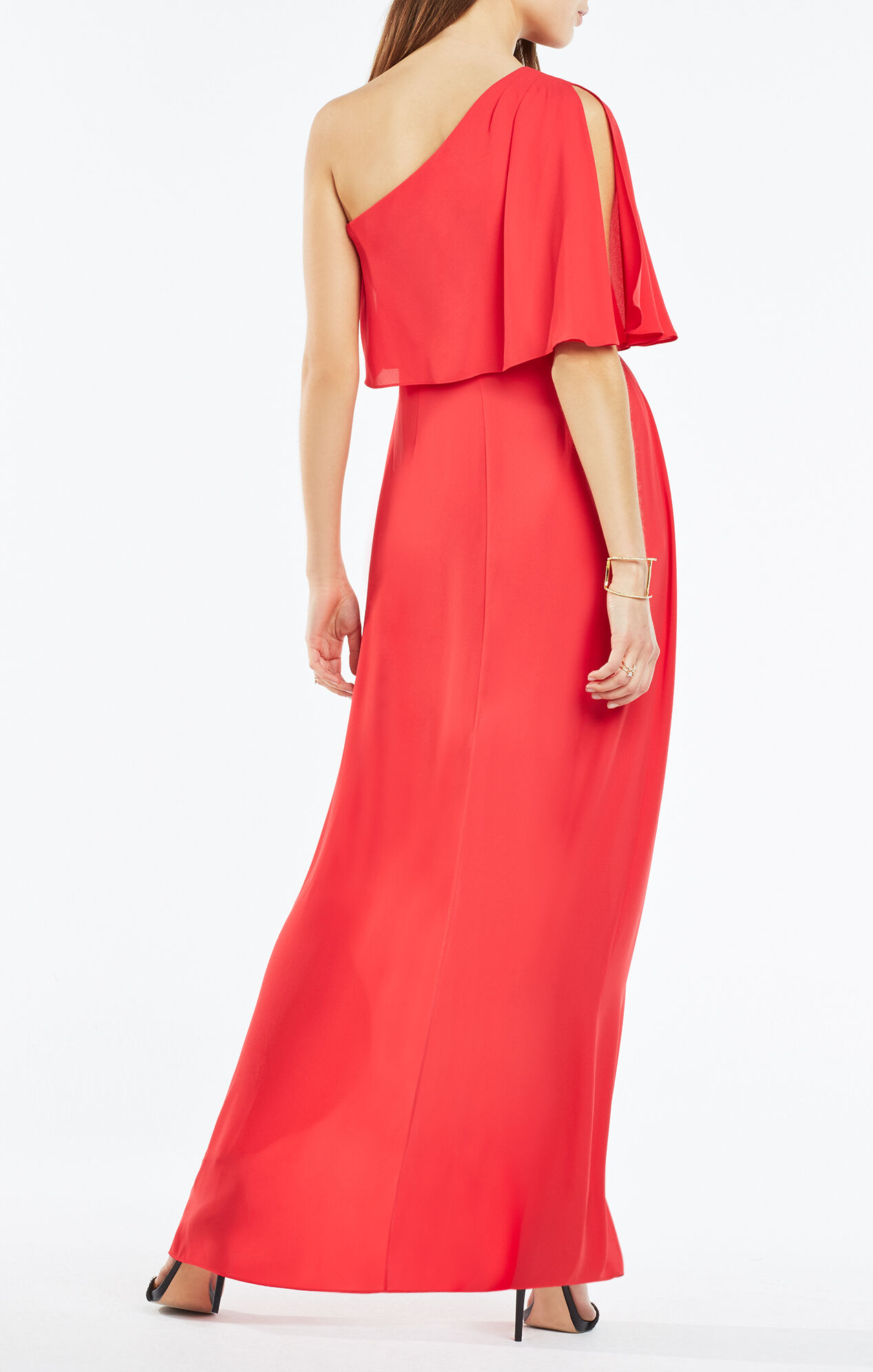 Secha One-Shoulder Draped Gown
