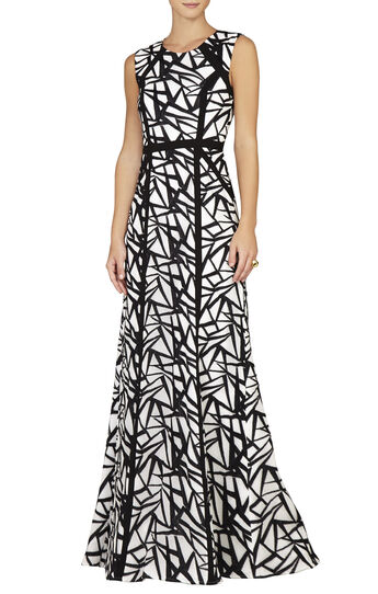 Daniela Round-Neck Sleeveless Gown