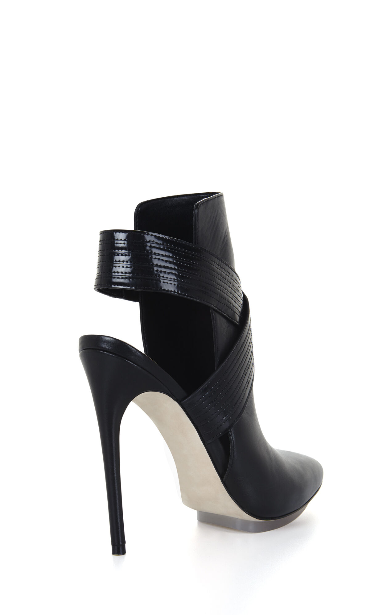 Runway Krimp High-Heel Pointed-Toe Day Boot