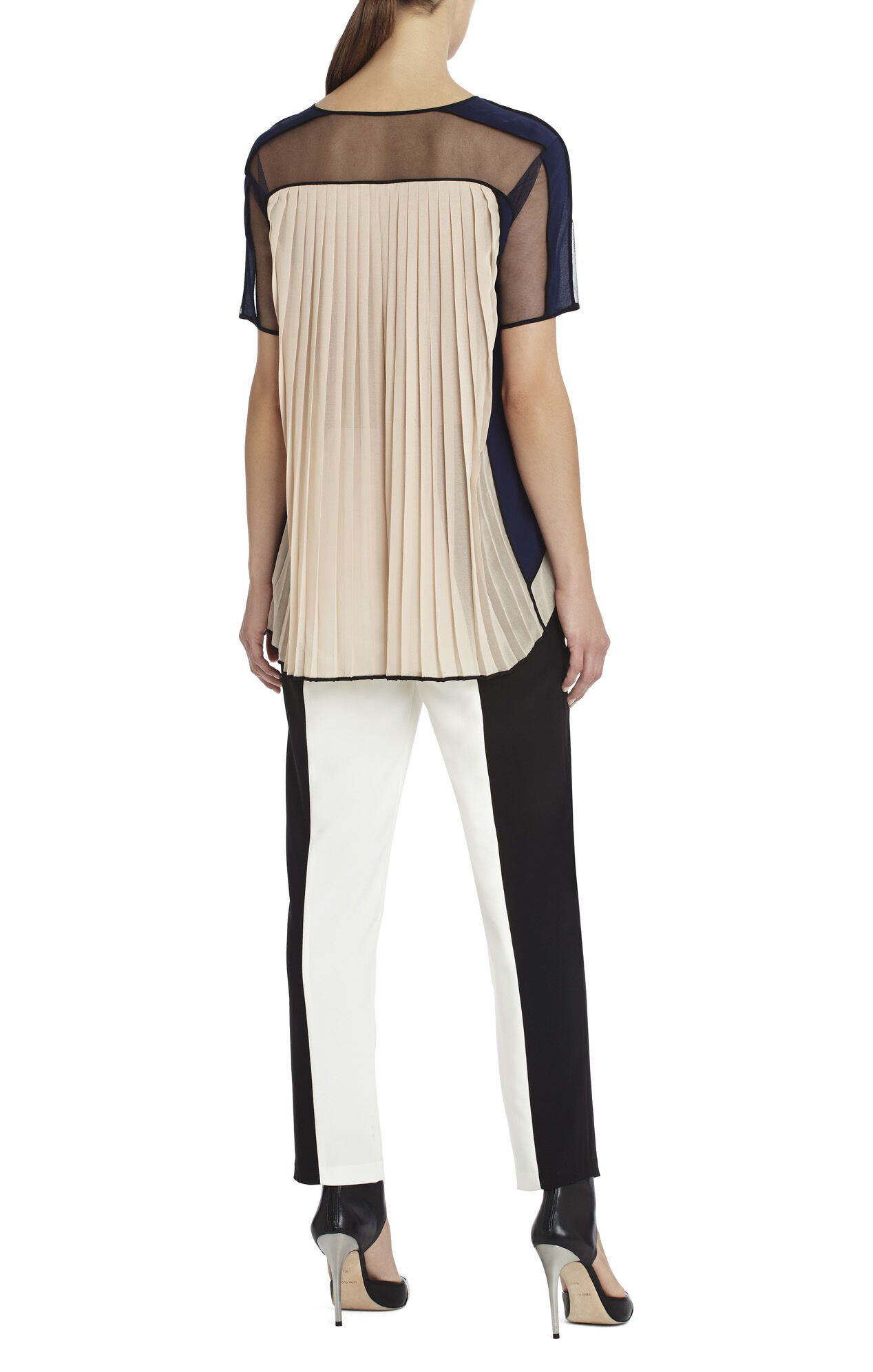Runway Neta Sheer-Yoke Top