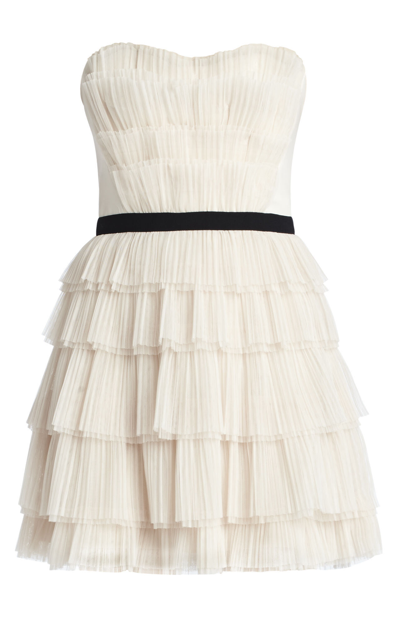 Rayna Strapless Pleated Dress