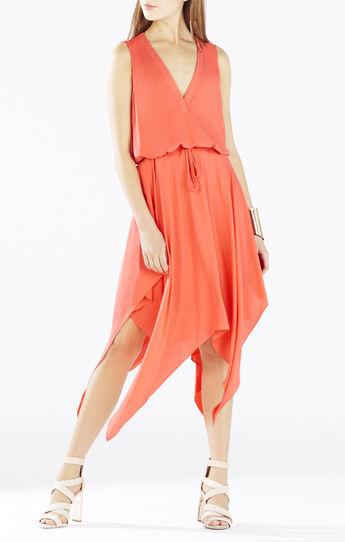 Klara Wrap-Top Handkerchief Dress