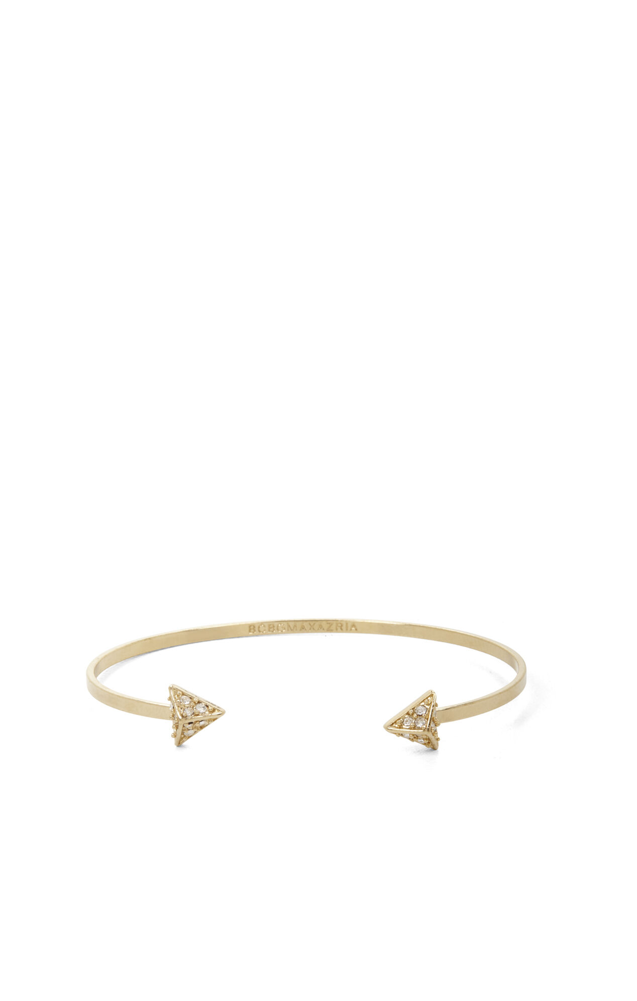 Pave Triangle Pyramid Cuff