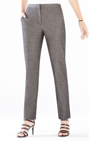 Tarik Slim-Leg Cropped Trouser