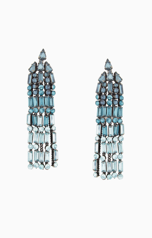 Stone Tassel Earrings
