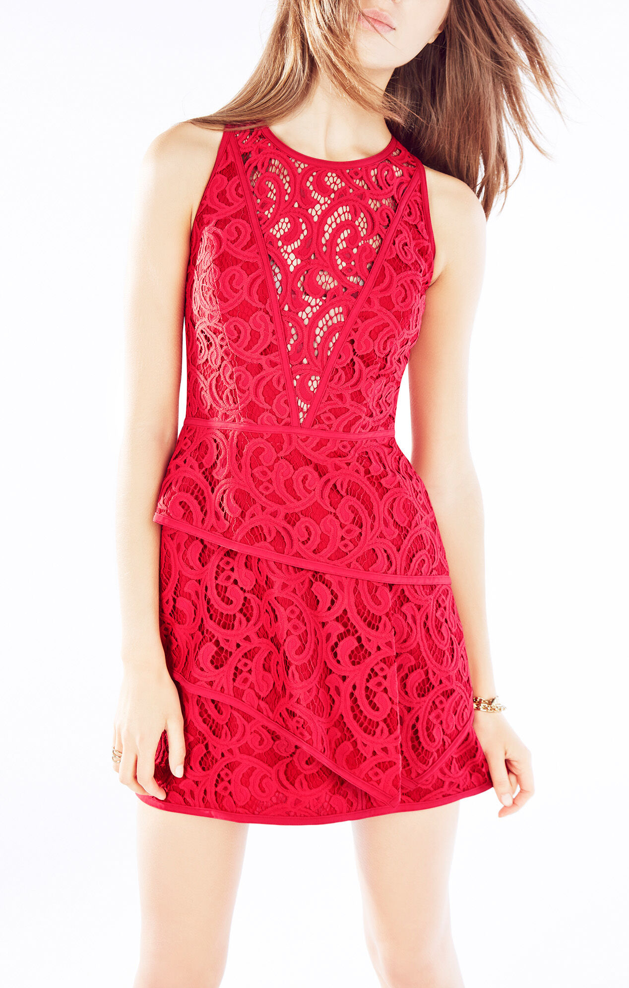 Hanah Scroll Lace Dress