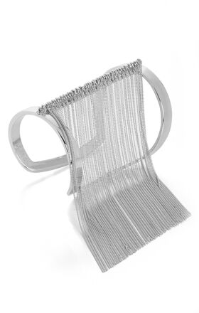 Cutout Fringe-Detailed Cuff