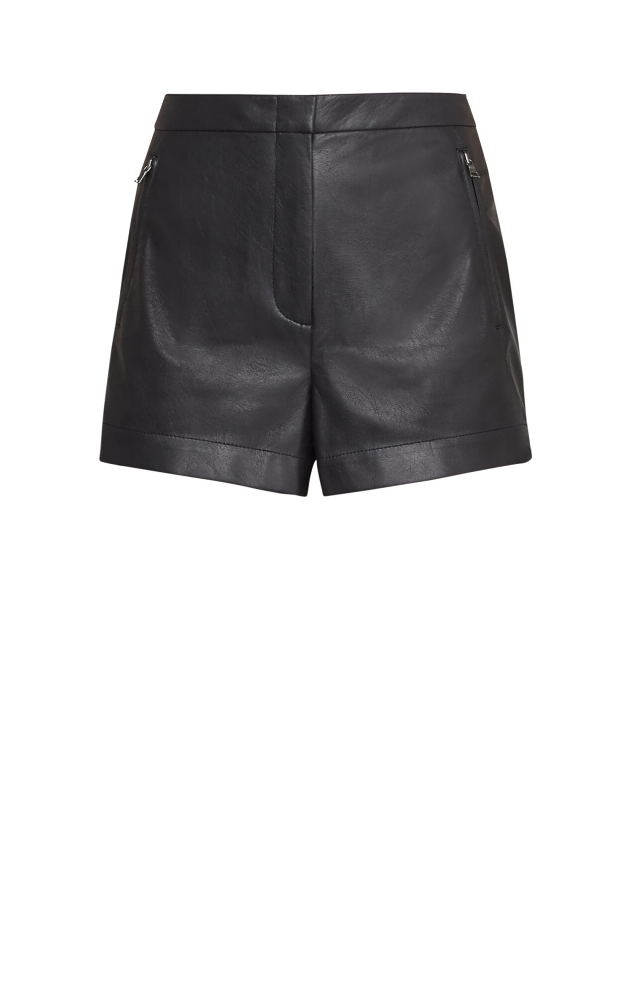 Yazzy Faux-Leather Shorts