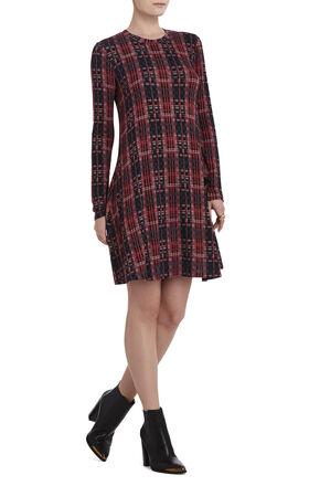 Jeanna Crewneck Long-Sleeve Dress