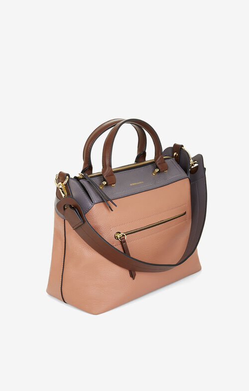 Mariele Color-Blocked Leather Satchel