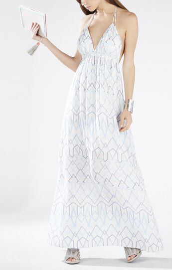 Kamala Long-Tie Halter Dress