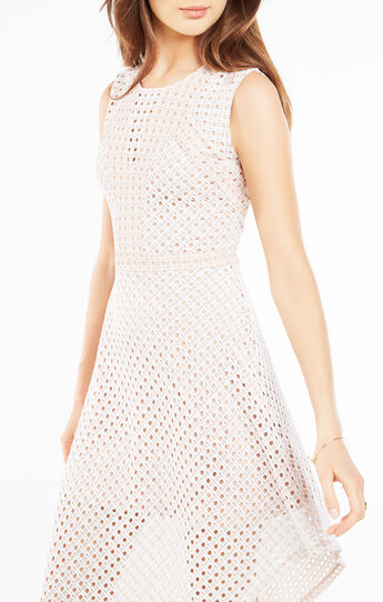 Tracie Asymmetrical Lace Dress
