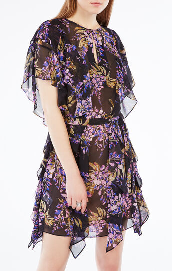 Filippa Floral Print Silk Kaftan Dress