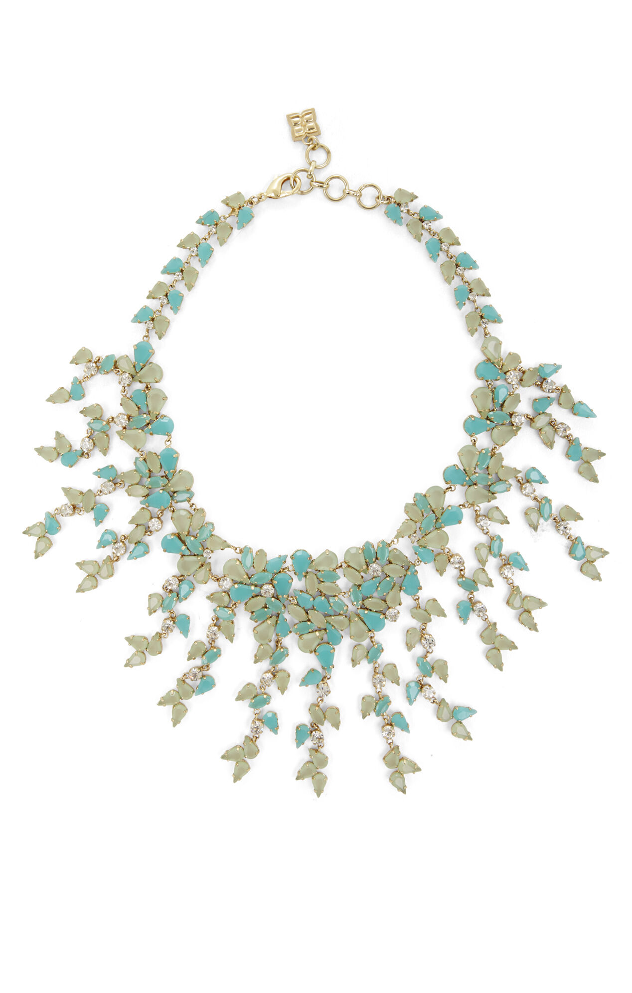 Drape Leaf-Stone Necklace
