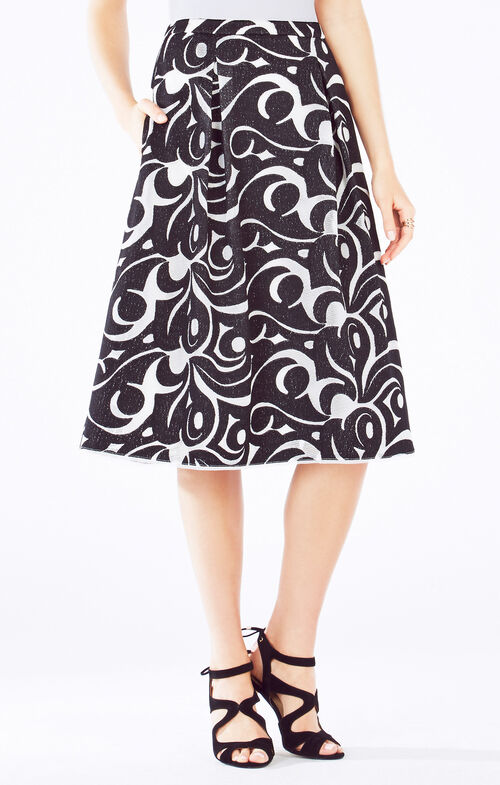 Jezebel Embroidered A-Line Skirt
