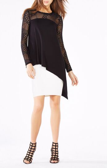 Shayla Lace Asymmetrical Top