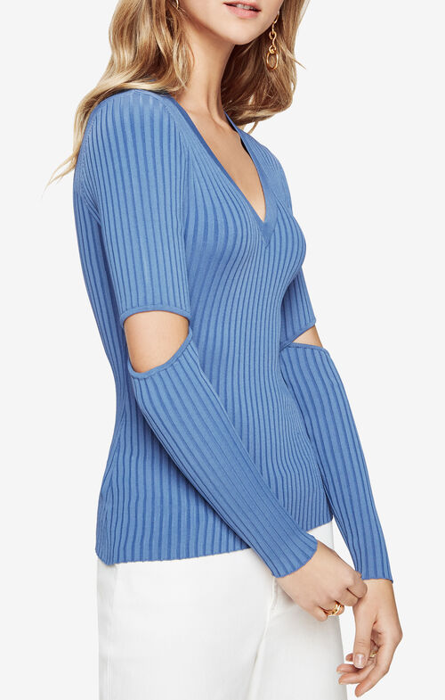Janele Elbow-Slit Sweater