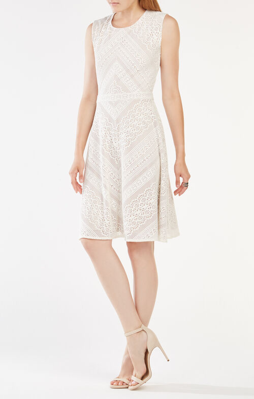 Dalency Striped Lace Dress