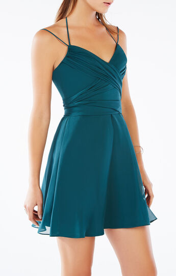 Shay Halter-Neck Silk Dress