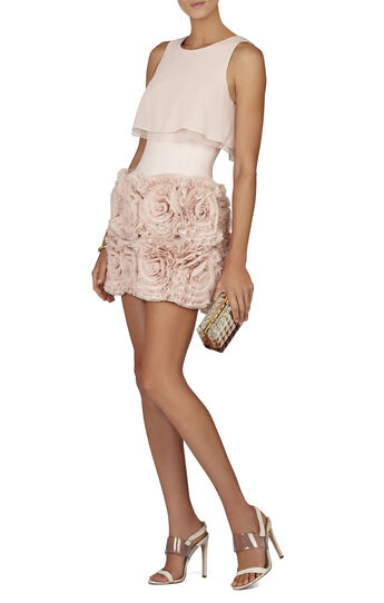 Alia Sleeveless Tiered-Ruffle Skirt Dress