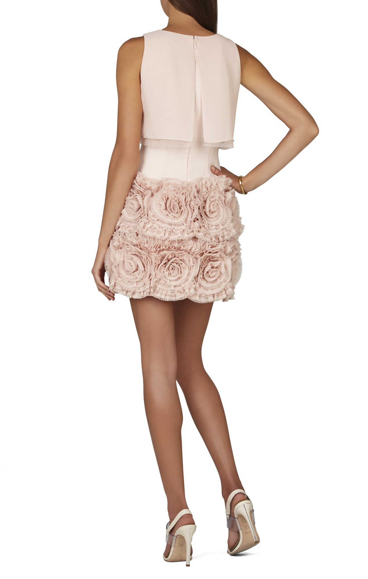 BCBGMAXAZRIA Alia Sleeveless Tiered-Ruffle Skirt Dress | BCBG.com
