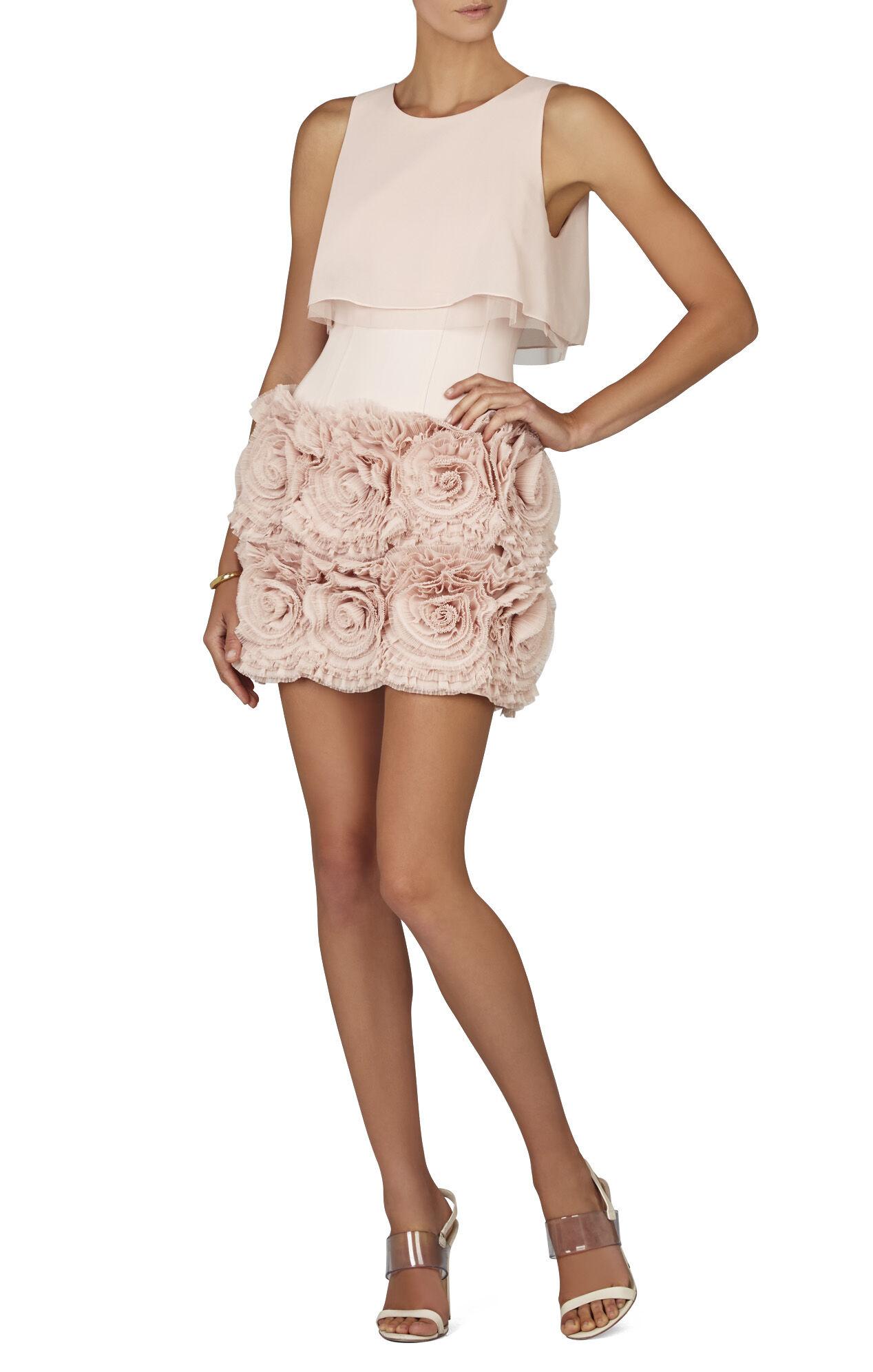 Alia Sleeveless Tiered-Ruffle Skirt Dress