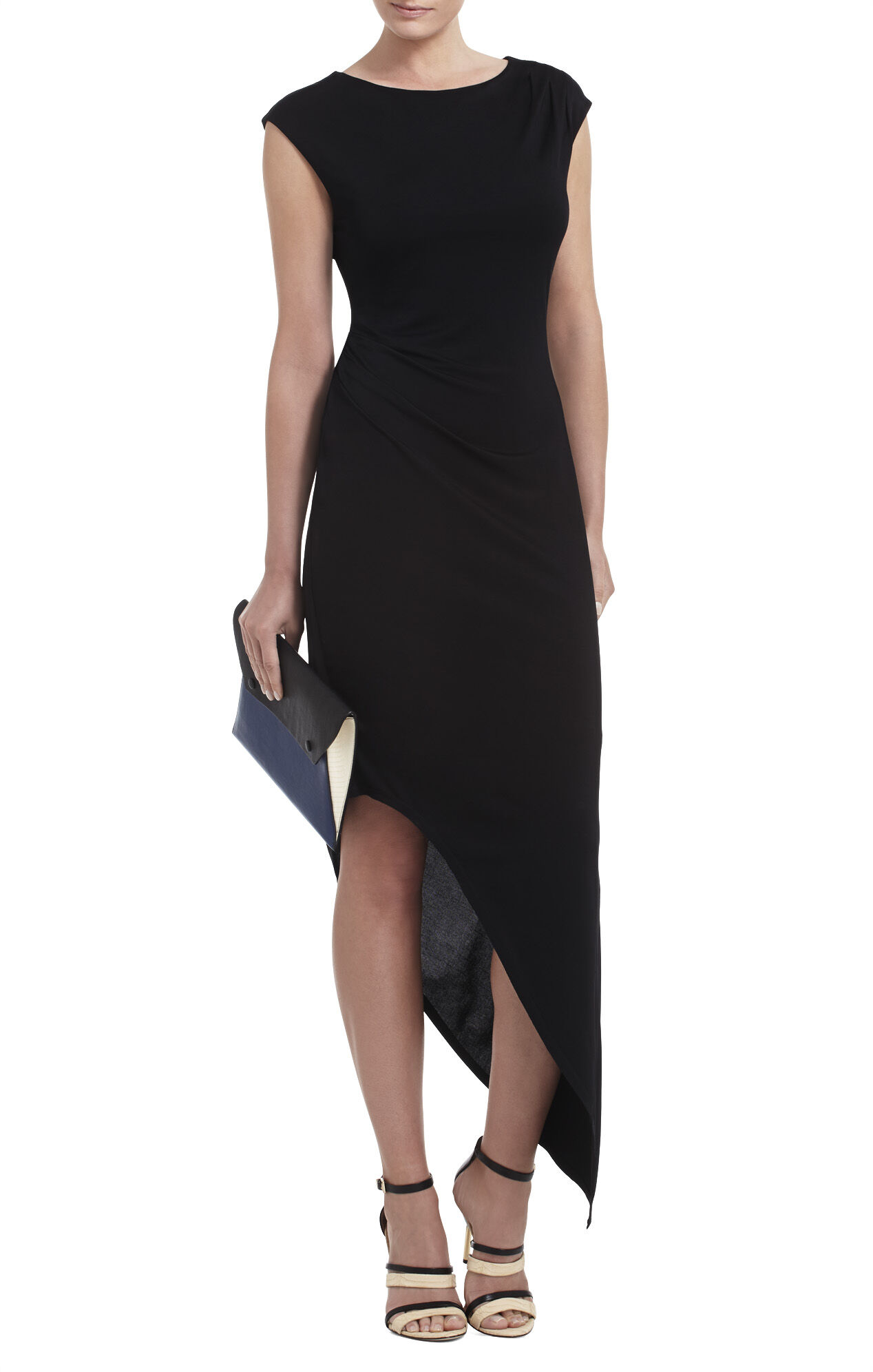 Jenifer Asymmetrical Boatneck Dress
