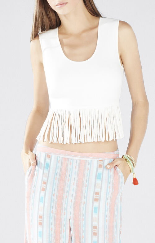Jaleigh Fringe Crop Top