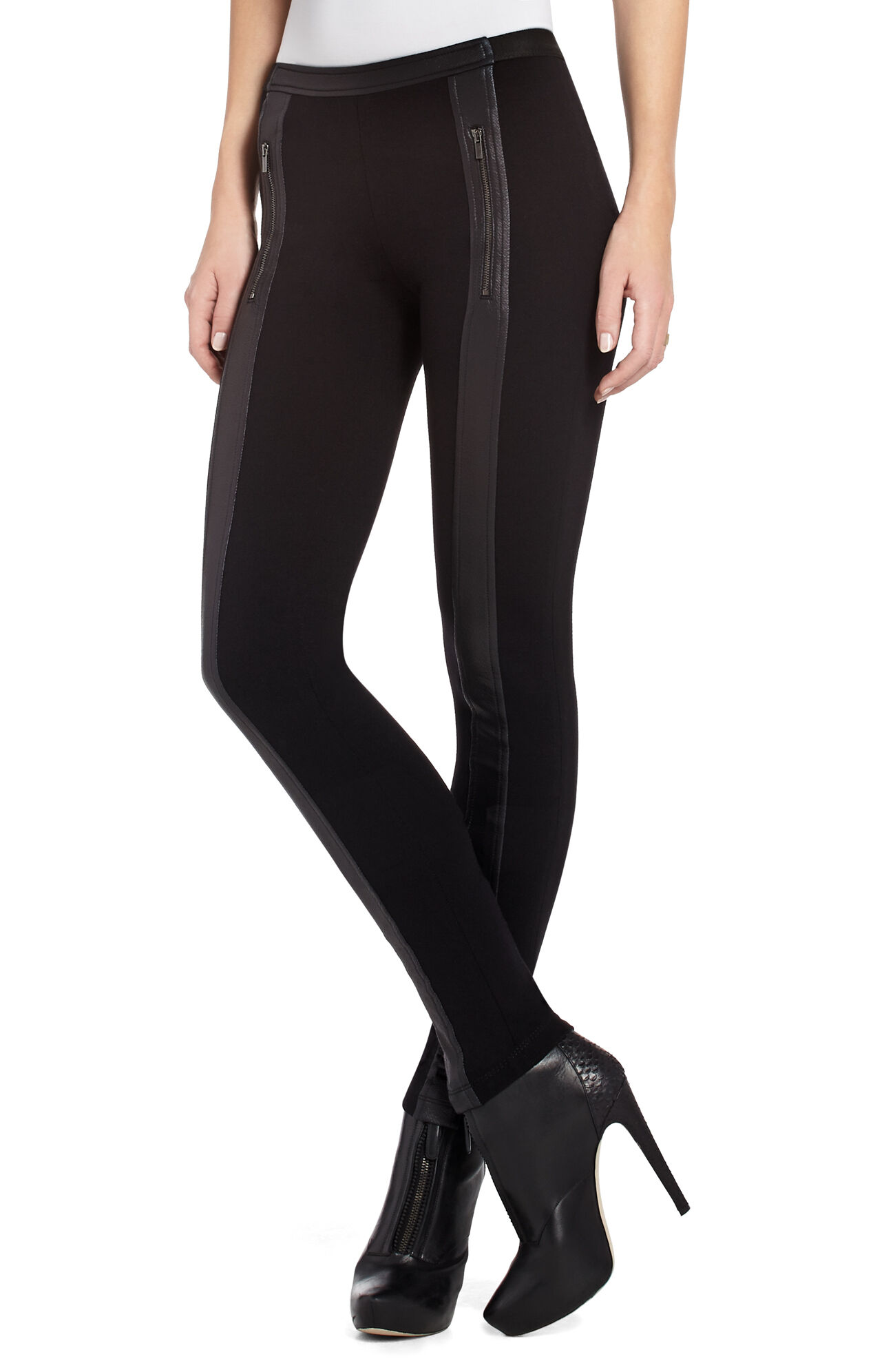 Paul Pleather Contrast Legging