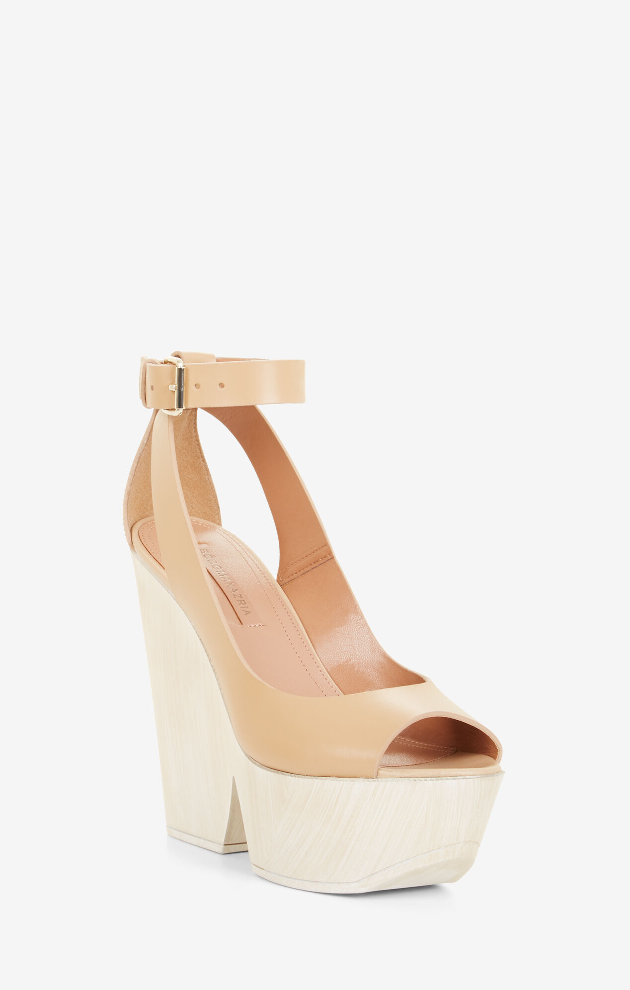 Kyara Leather Wedge Sandals