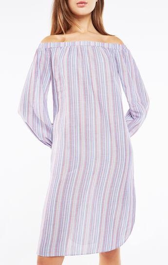 Lyndsie Off-The-Shoulder Striped Dress