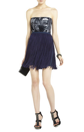 Adelaine Sequin Dress with Fringe