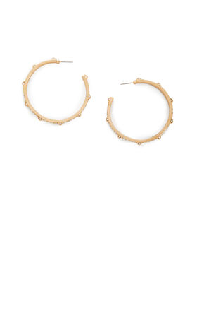 Pave Pyramid Hoop Earrings