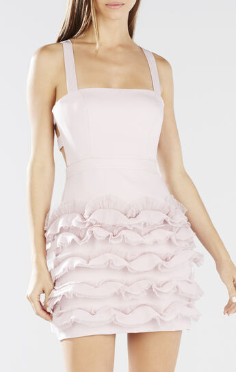 Rebecka Cutout-Back Ruffle Dress
