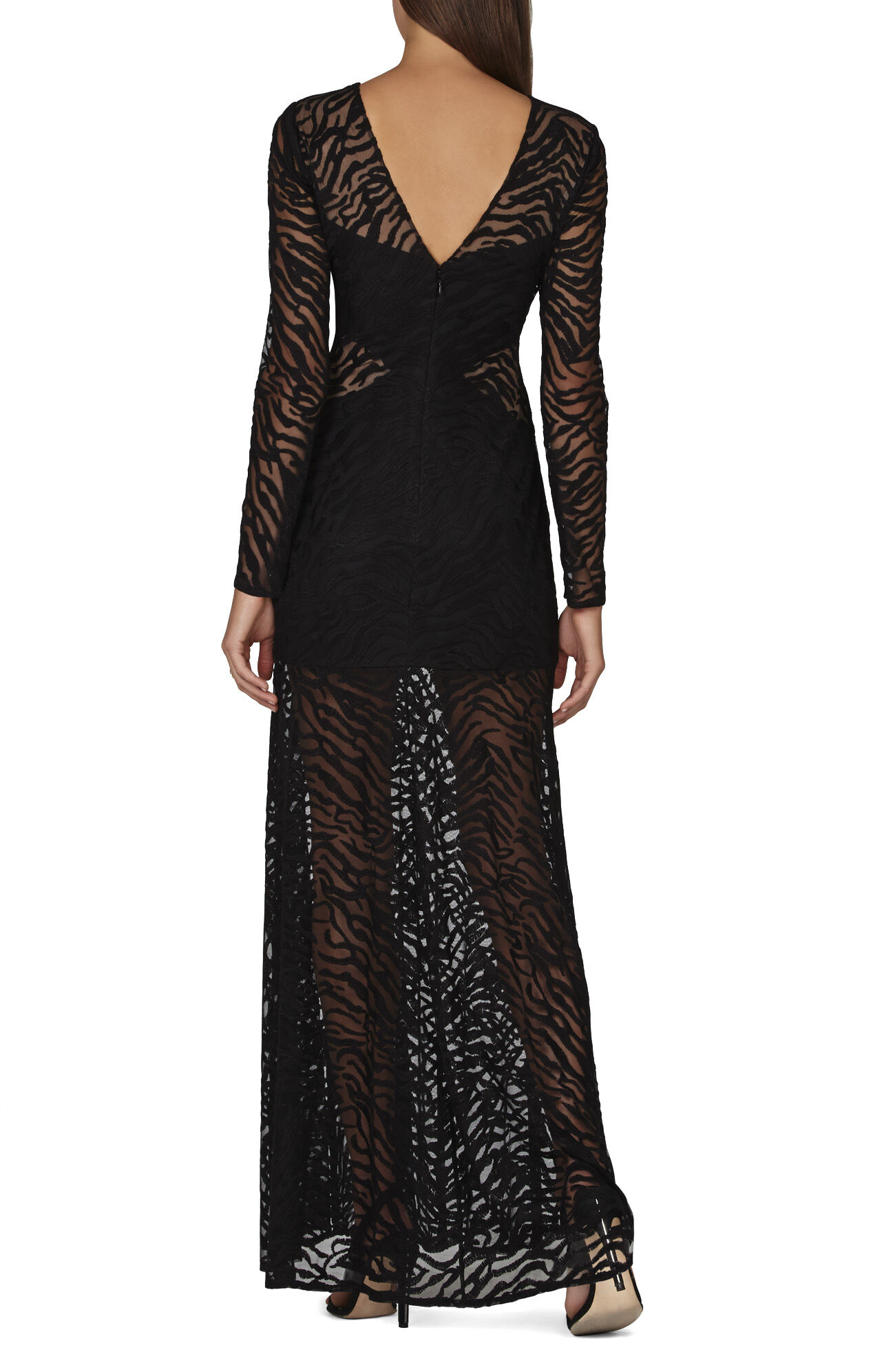 Alexia Embroidered Blocked-Mesh Dress