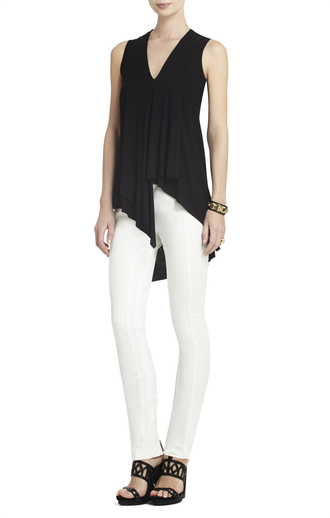 Cyprien Sleeveless Asymmetrical Top