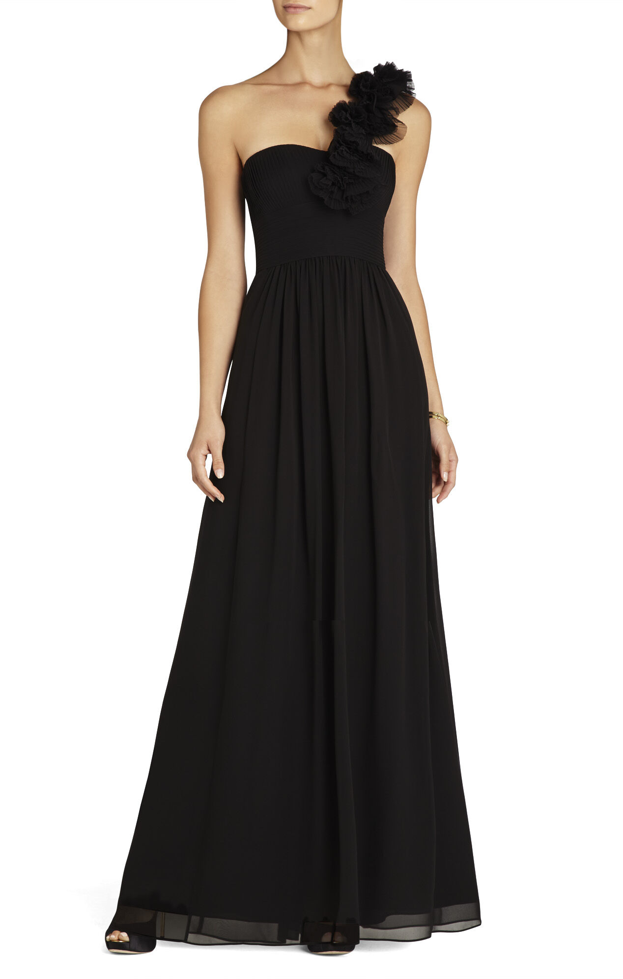 Patricia Silk One-Shoulder Gown