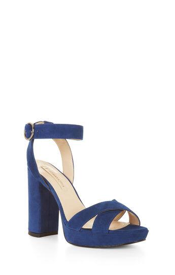 Aya High-Heel Suede Platform Sandal