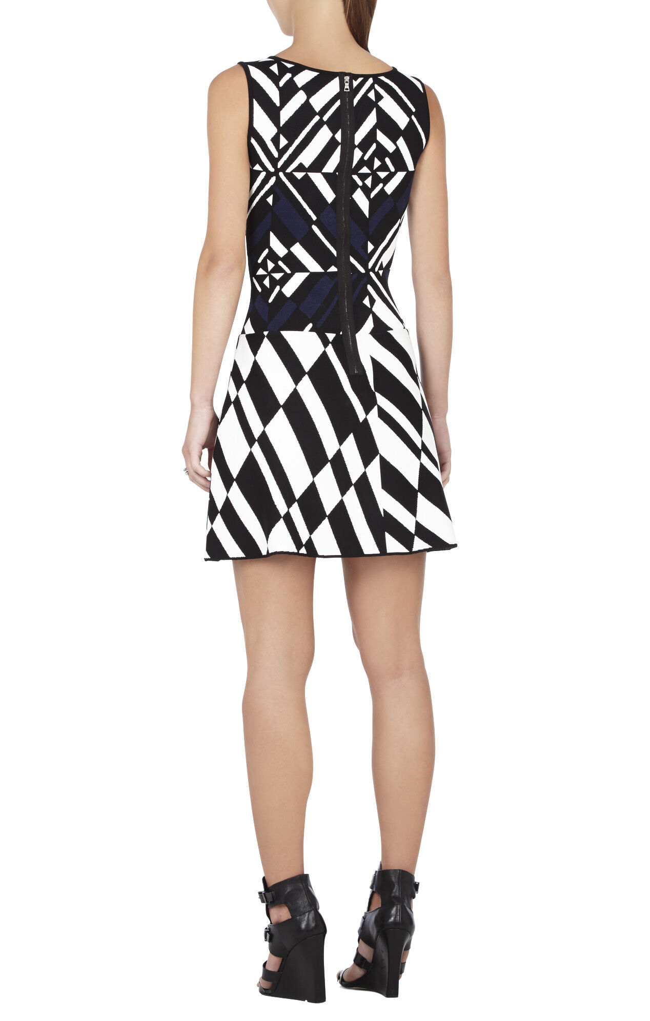 Jo Geometric Jacquard Dress