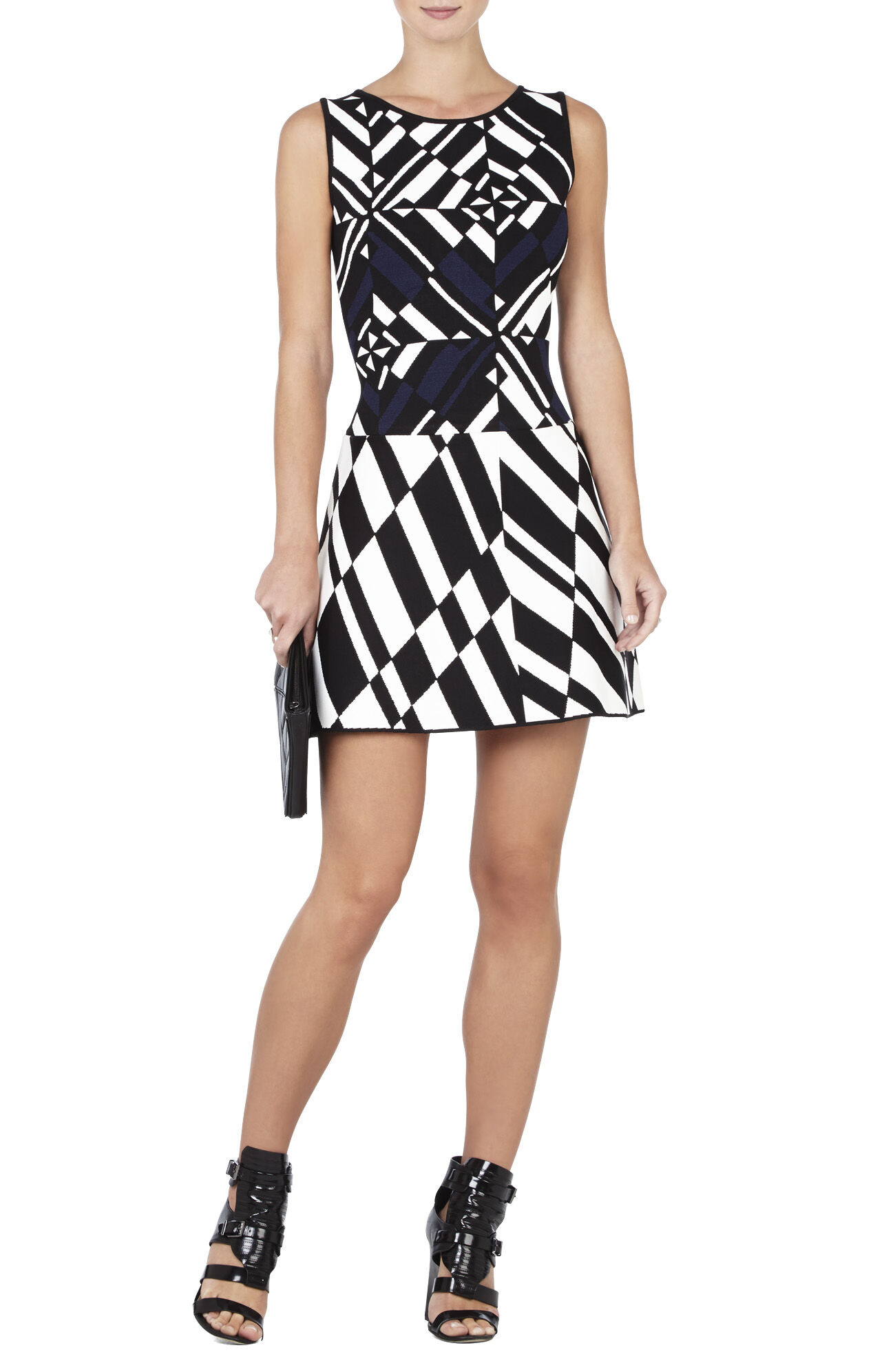 Jo Geometric Jacquard Dress