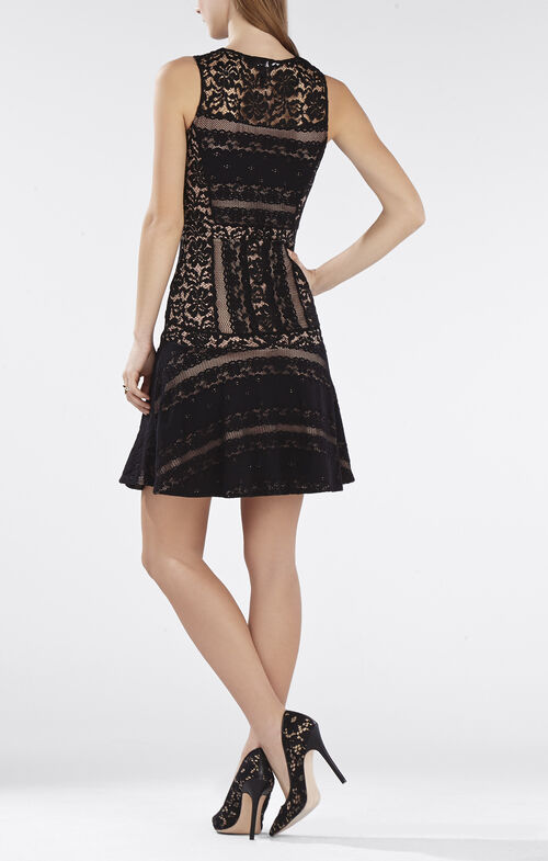 Jalina Sleeveless Lace-Blocked Dress