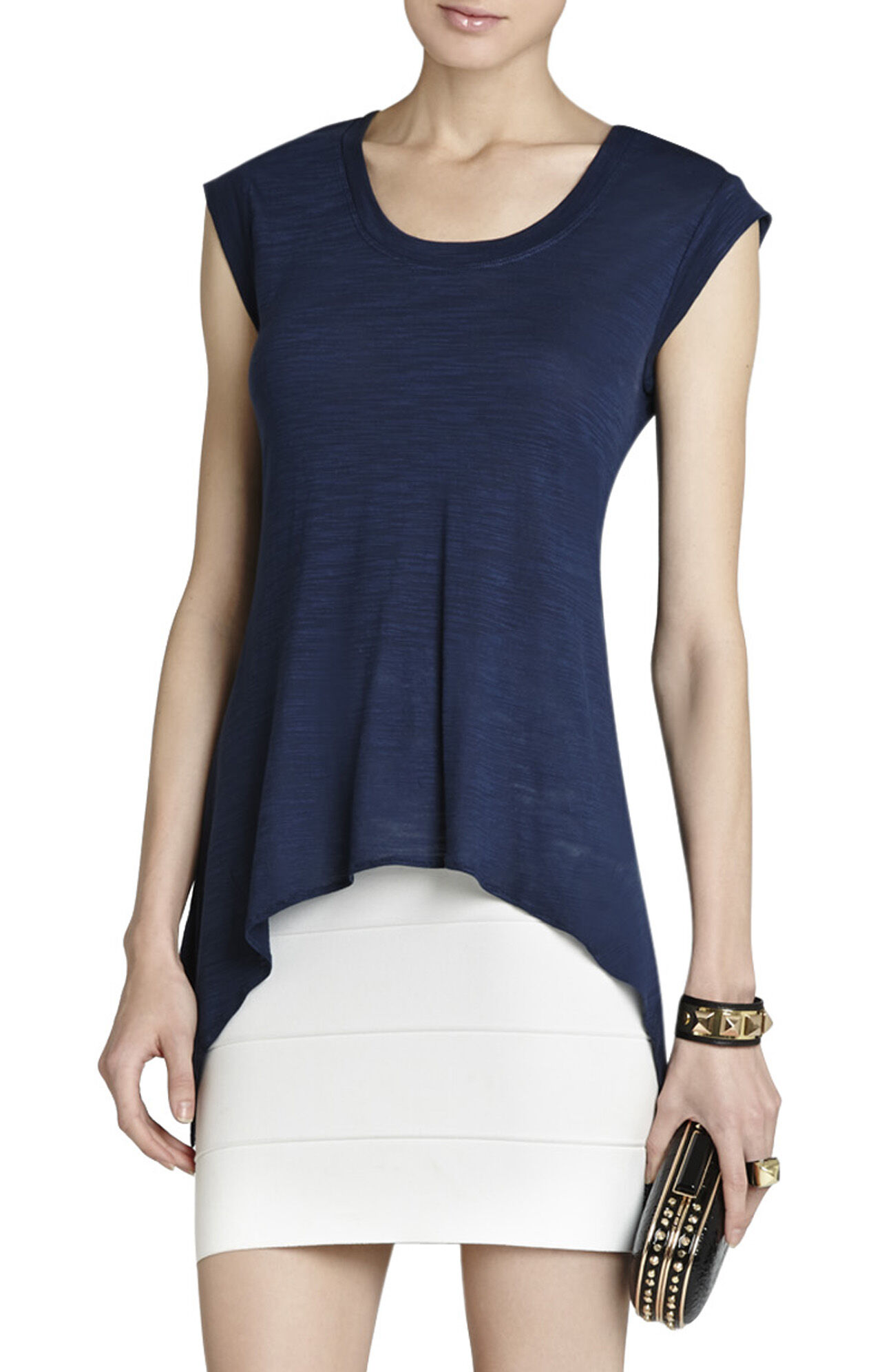 Ira Draped-Back Top