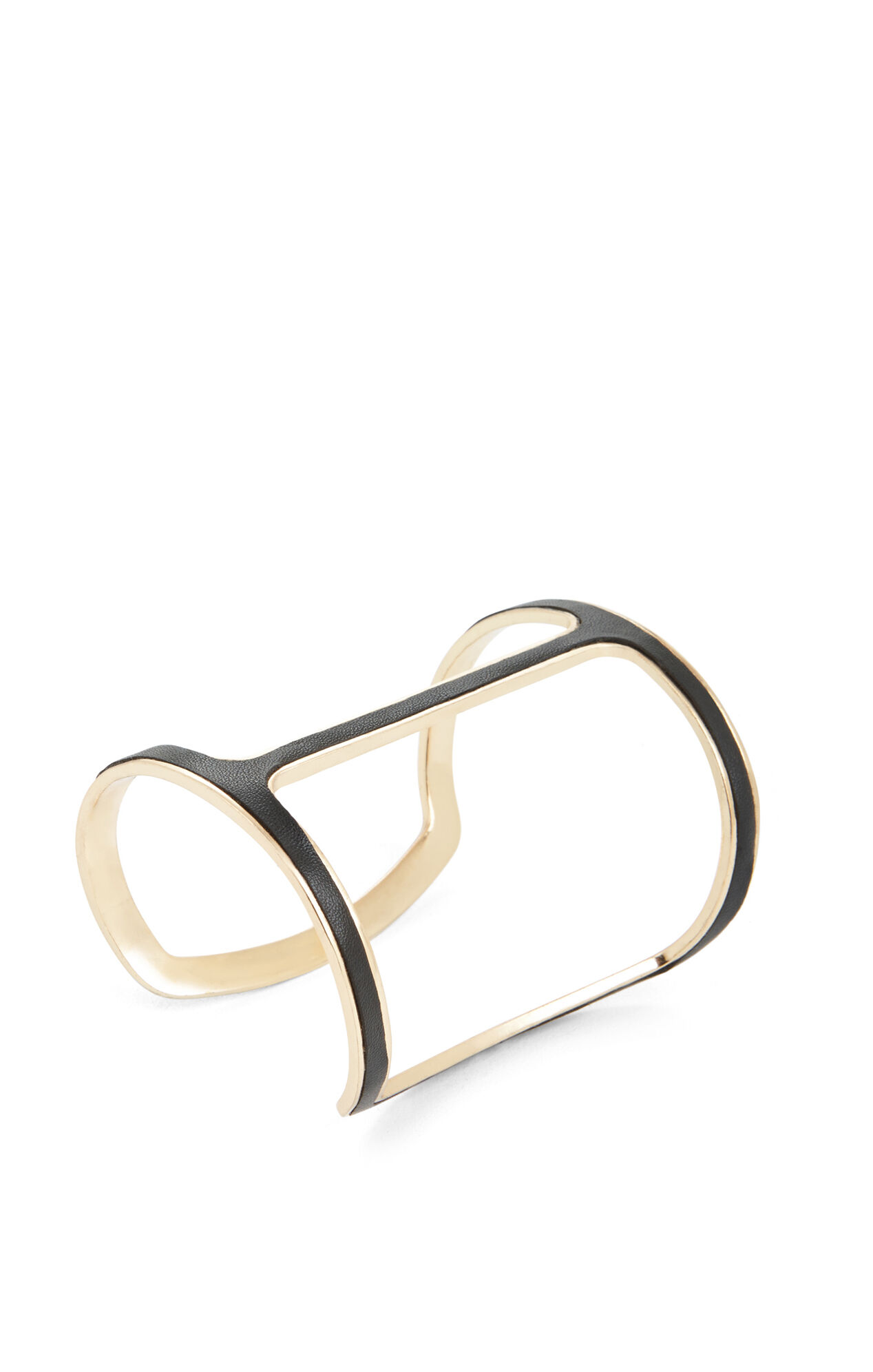 Faux-Leather Covered Cutout Cuff
