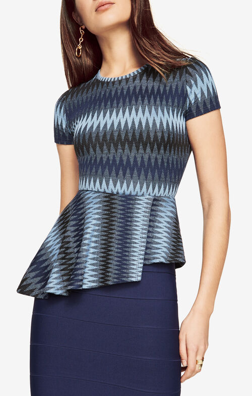 Harlee Striped Peplum Top