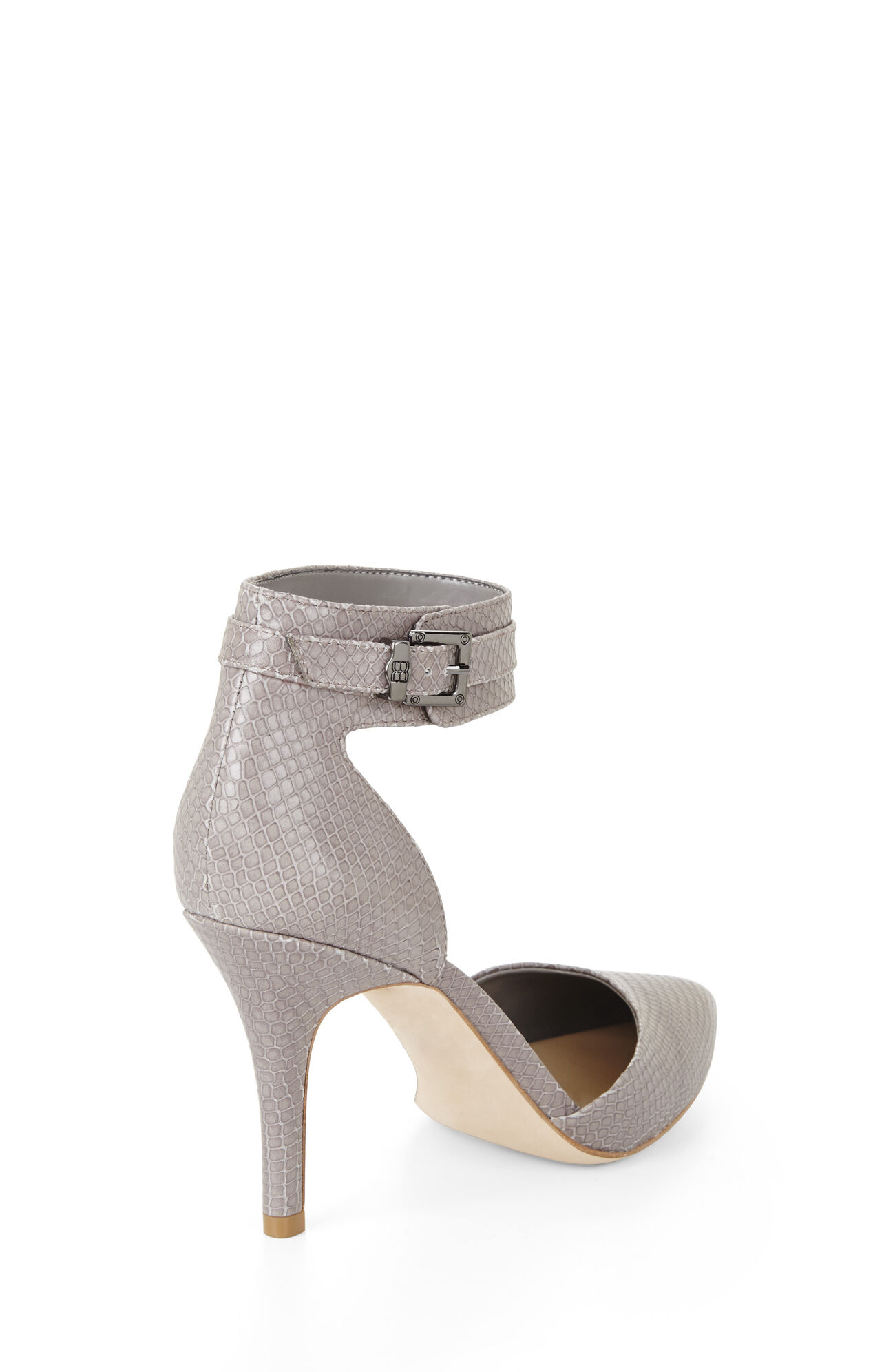Printz Mid-Heel Exotic Pointed-Toe Pump