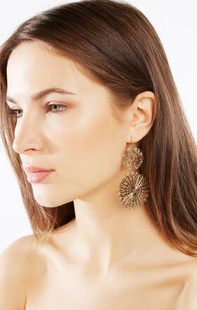 Filigree Disc Earrings